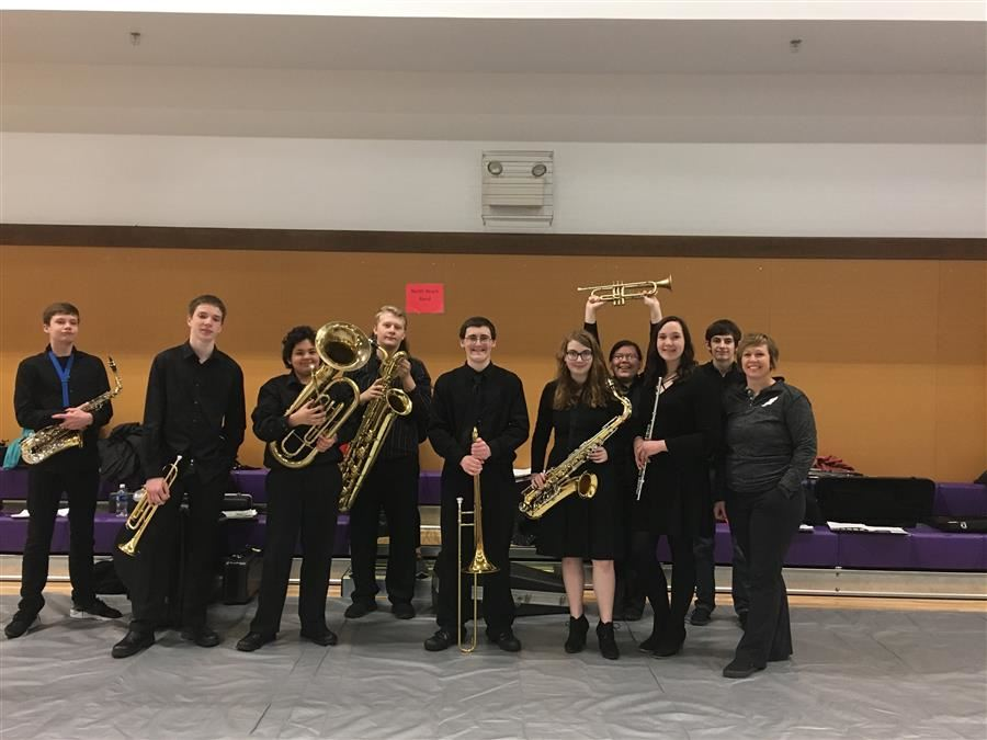 The North Beach Band at the regional CMEA Festival in 2018.