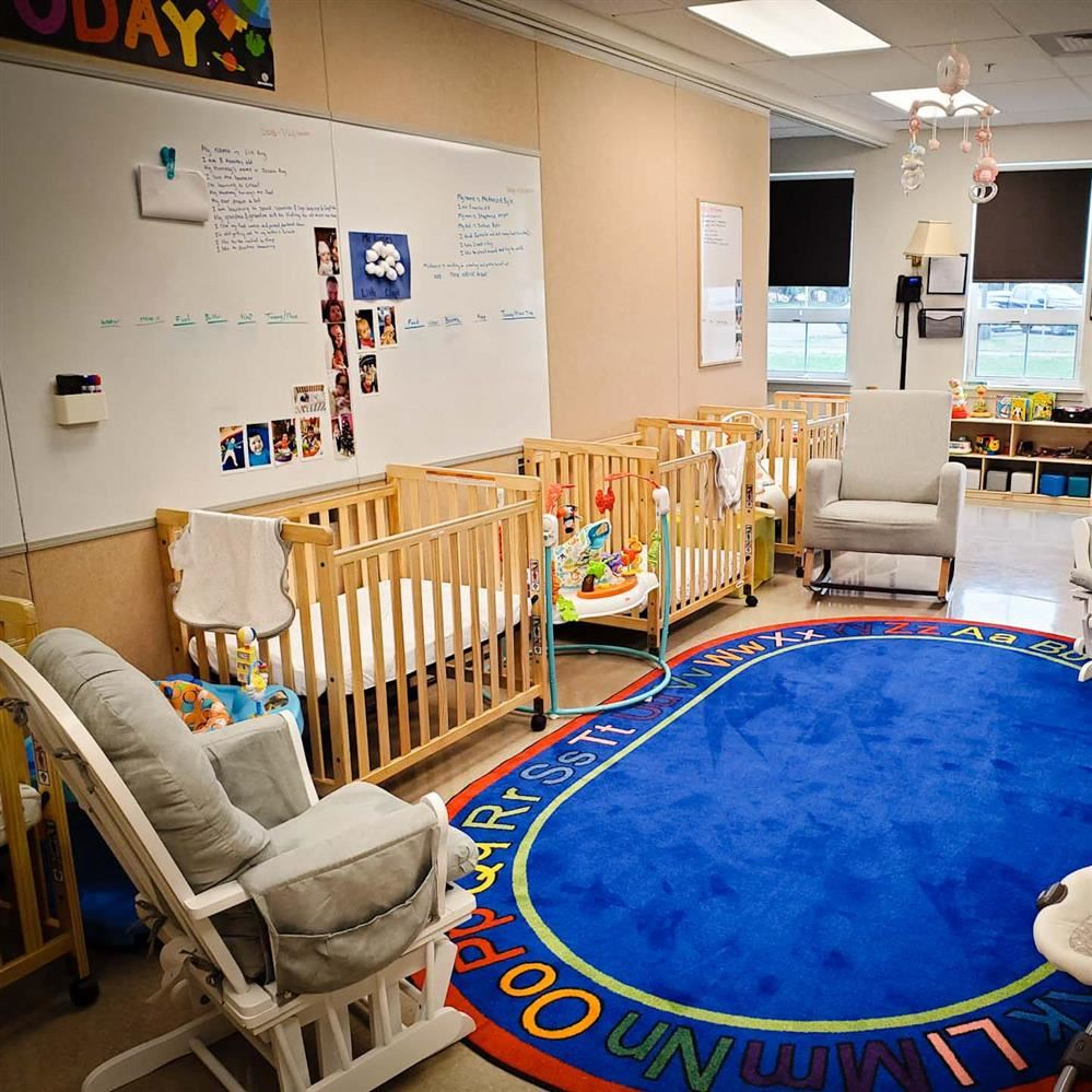 Infant care area of Tugboat Granny's at Pacific Beach Elementary