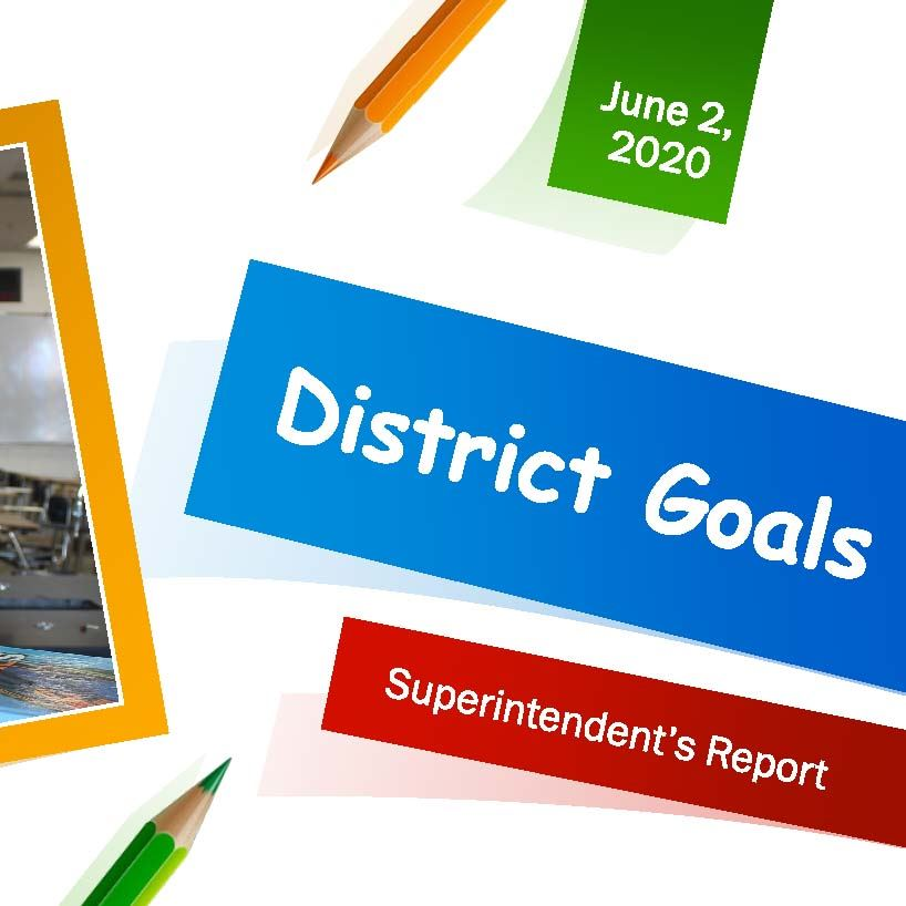 Cover slide from Superintendent Kelly's 6.2.20 presentation to school board